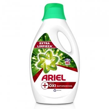 Detergente liquido ultra oxi effect Ariel 40 lavados.