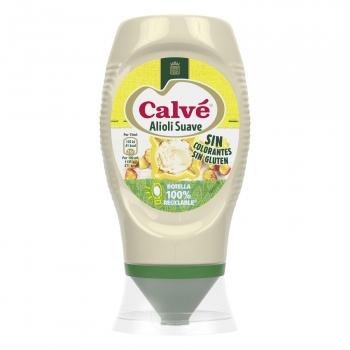 Salsa alioli suave Calvé sin gluten envase 250 ml.
