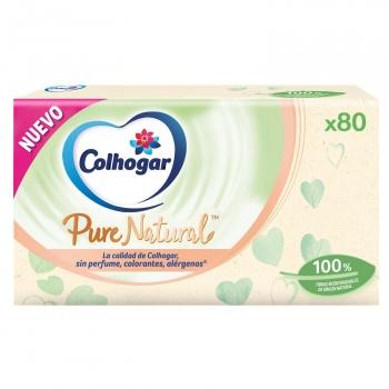 Caja de pañuelos Colhogar Pure Natural 80 uds