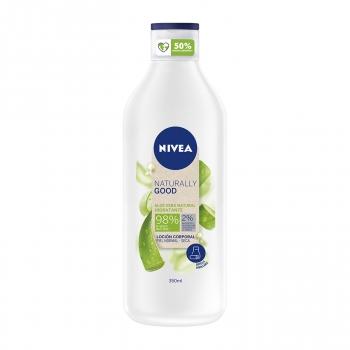 Crema hidratante aloe vera para piel normal y seca Naturally Good Nivea 350 ml.