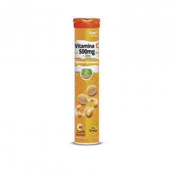 Vitamina C en comprimidos efervescentes Vive Plus sin gluten 20 ud.