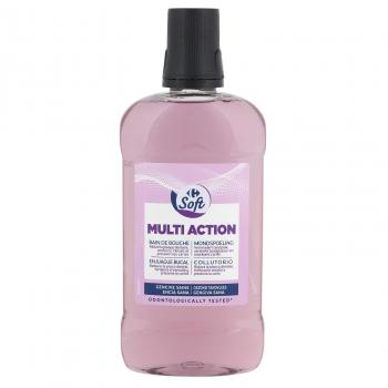 Enjuague bucal multi action Carrefour Soft 500 ml.