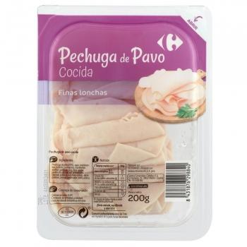 Pechuga de pavo cocida en finas lonchas Carrefour 200 g