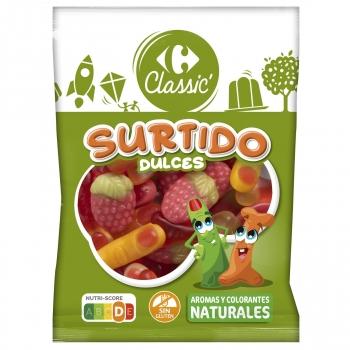 Caramelos de goma Surtido Carrefour Classic sin gluten 200 g.