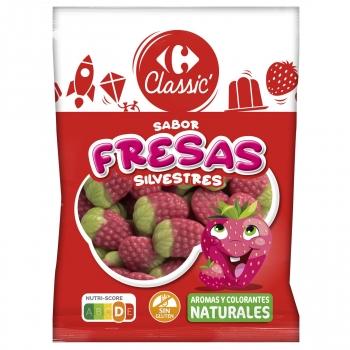 Caramelos de goma Fresas Silvestres Carrefour sin gluten 200 g.