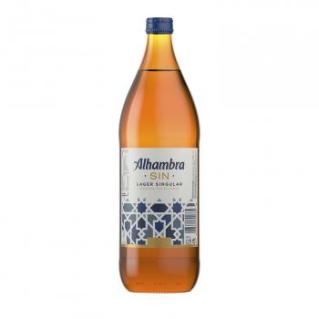 Cerveza Alhambra especial sin alcohol botella 1 l.