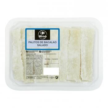 Palitos de bacalao salados Carrefour el Mercado 300 g aprox