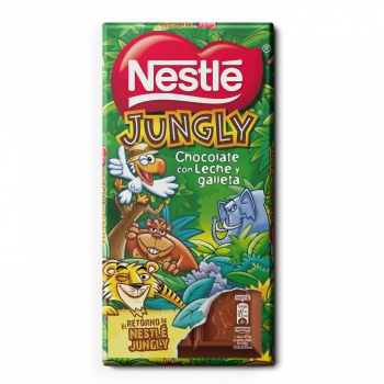 Chocolate con leche y galleta Jungly Nestlé 125 g.