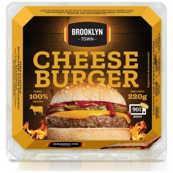 Hamburguesa de vacuno con queso Cheese Burger Brooklyn Town 220 g.