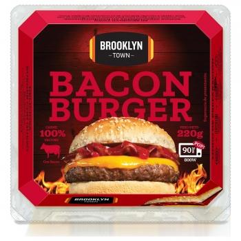 Hamburguesa de vacuno con bacon Bacon Burger Brooklyn Town 220 g.