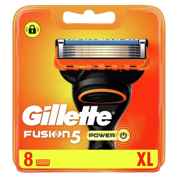 Recambios Fusion5 Power Gillette 8 ud.