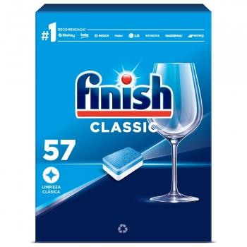Lavavajillas a máquina en pastillas classic Finish 57 ud.