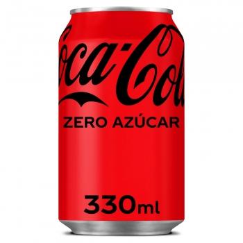 Coca Cola zero azúcar lata 33 cl.