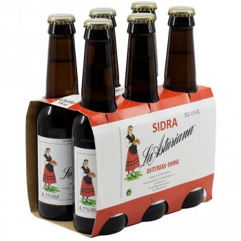 Sidra La Asturiana pack de 6 botellas de 25 cl.