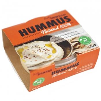 Hummus tradicional Taste Shukran sin gluten sin lactosa 240 g.