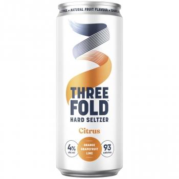 Combinado de cítricos con alcohol Hard Seltzer sin gluten lata 33 cl.