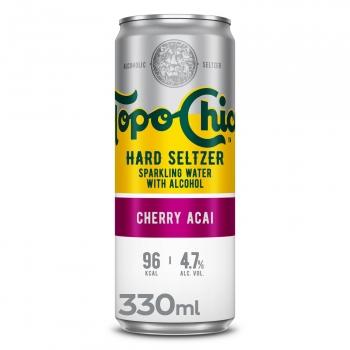 Topo Chico Hard Seltzer Chrerry acai lata 33 cl.