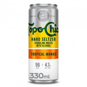 Topo Chico Hard Seltzer tropical mango lata 33 cl.