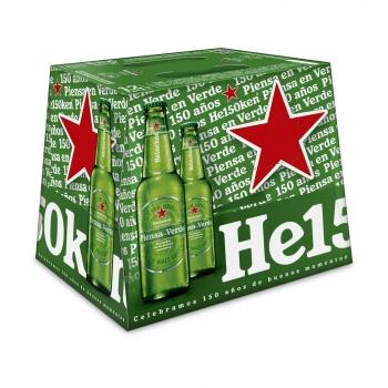 Cerveza rubia Heineken Lager pack 12 botellas 25 cl.