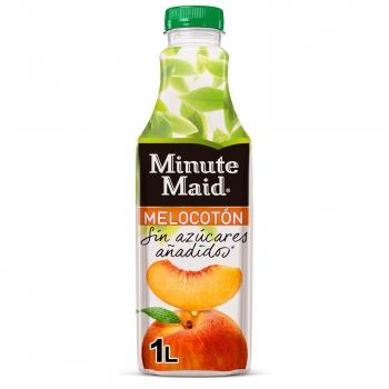 Néctar de melocotón Minute Maid sin azúcares añadidos botella 1 l.