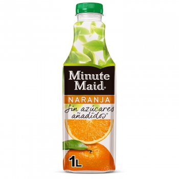 Néctar de naranja Minute Maid sin azúcares añadidos botella 1 l.