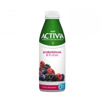 Yogur bífidus líquido desnatado frutos silvestres Danone Activia 550 g.