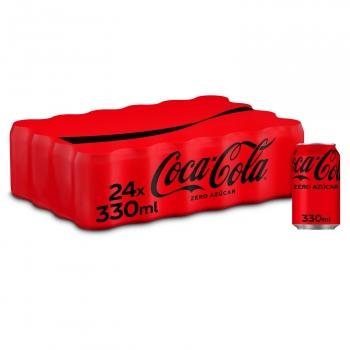 Coca Cola zero azúcar pack 24 latas 33 cl.