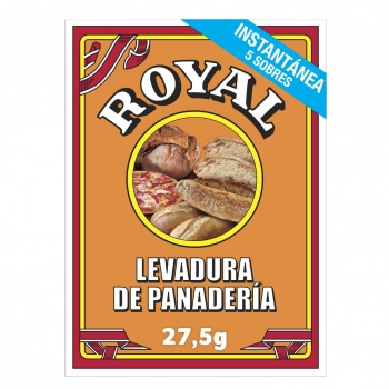 Levadura de panadería Royal pack de 5 unidades de 5,5 g.