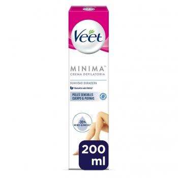 Crema depilatoria piel sensible cuerpo & piernas minima Veet 200 ml.