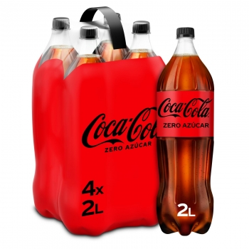 Coca Cola zero azúcar pack 4 botellas 2 l.