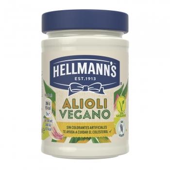 Salsa Alioli vegano Hellmann's sin gluten tarro 270 g.
