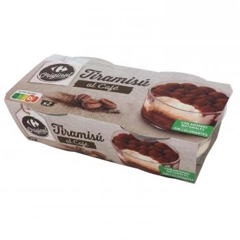 Tiramisú Carrefour Original pack de 2 unidades de 80 g.