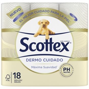 Papel higiénico Scottex Dermo Cuidado 18 rollos