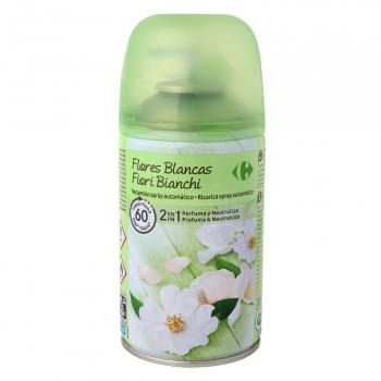 Ambientador automático Flores Blancas recambio Carrefour 1 ud.