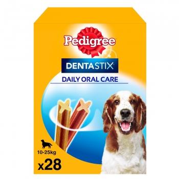 Snacks dental para perros medianos Pedigree Dentastix pack de 28 unidades