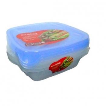 Bote Cuadrado de Plástico CARREFOUR HOME  0,7l 3 ud - Bicolor