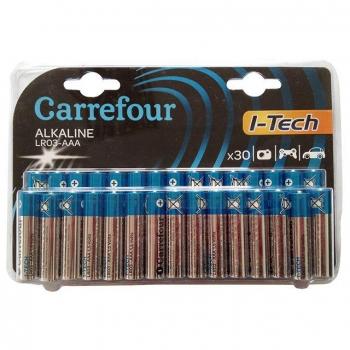 Pack de 30 Pilas Alcalinas I-Tech Carrefour Lr03 (Aaa)