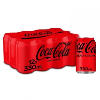 Coca Cola zero azúcar pack 12 latas 33 cl.