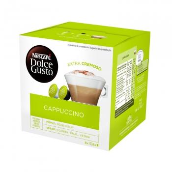 Café Capuccino en cápsulas Nescafe Dolce Gusto 16 unidades de 7 g.