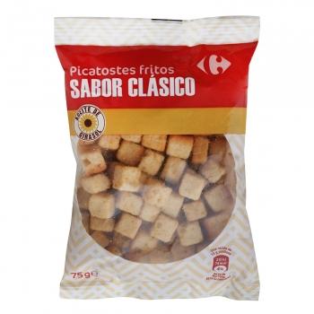 Picatostes fritos sabor clásico Carrefour 75 g.