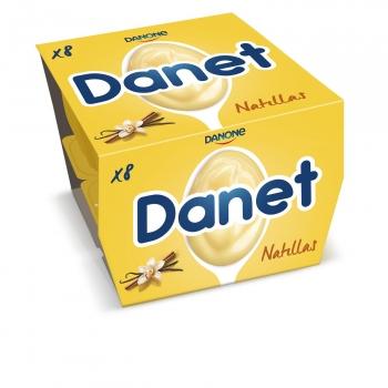 Natillas de vainilla Danone Danet pack de 8 unidades de 120 g.