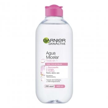 Agua micelar clásica para pieles normales todo en uno Garnier Skin Active 400 ml.