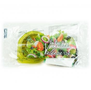 Estuche aderezo Valdezarza: Aceite de oliva virgen extra 5 unidosis de 20 ml, vinagre 5 unidosis de 10 ml y 5 unidosis de sal