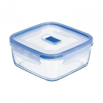 Recipiente Hermetico Cuadrado  de Cristal LUMINARC Pure Box Active 0,76 L. - Transparente