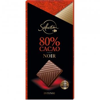 Chocolate negro 80% Carrefour Selección 100 g.