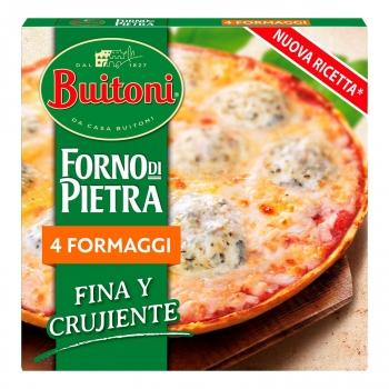 Pizza 4 quesos fina y crujiente Forno Di Pietra Buitoni 350 g.