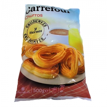 Churros lazo Carrefour sin lactosa 500 g.