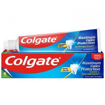 Dentífrico con flúor activo y calcio líquido sabor tradicional Protección Caries Colgate 50 ml.