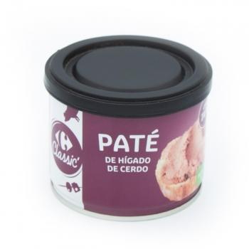 Paté de hígado de cerdo Carrefour 200 g.