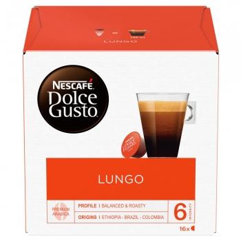 Café lungo en cápsulas Nescafe Dolce Gusto 16 unidades de 6,3 g.